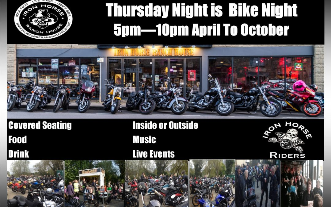 Bike Night – Every Thursday: April – October 2017